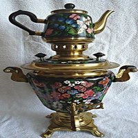 Soviet Hand Painted Electric Samovar Tea Urn