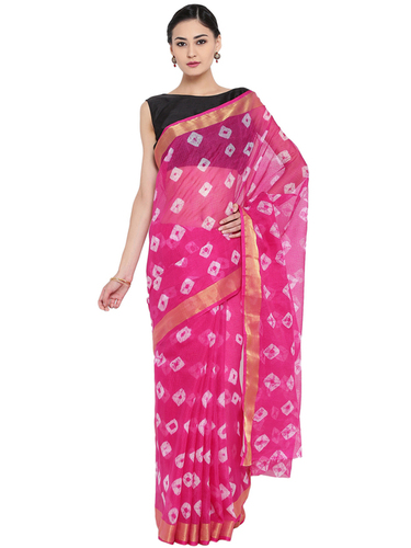 Tarditional Print Ethnic Wear Kota Doria Saree