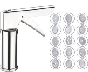 Kitchen Press SS Deluxe With 15 Blades (Push Button)