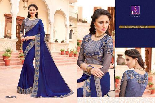 Cotton Designer Silk Saree