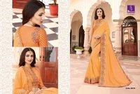 Pink Colour Border Work Silk saree