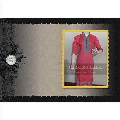 Sleeve Knee Length Kurti