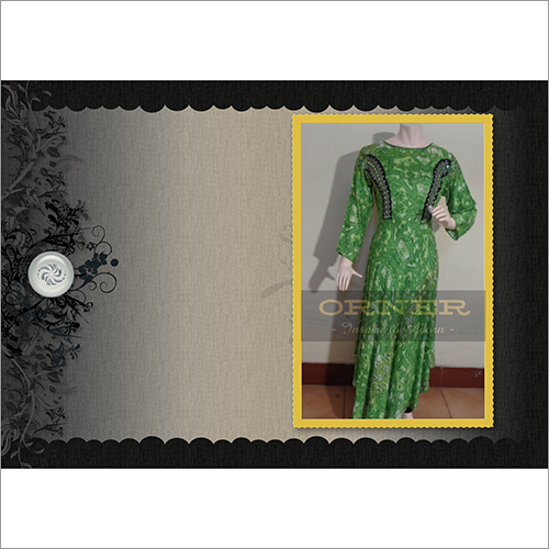 Rayon Full Sleeve Embroidery Ankle Length