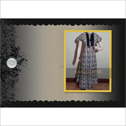 Cotton Jaipuri Short Sleeve Ankle Length Kurti