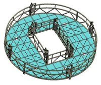 Round Shaped Suspended Platform