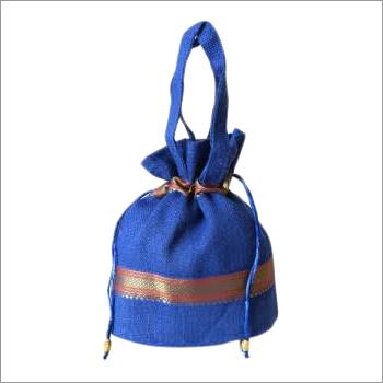 Jute Potli Bag With Lace