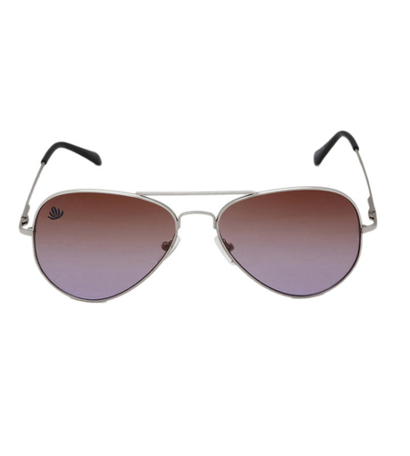 mens silver and brown avaitor sunglasses