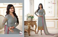 TRADITIONAL WEAR SALWAR SUITS WITH GEORGETTE FABRIC