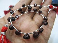 Natural Mozambique Garnet Onion Shape Beads