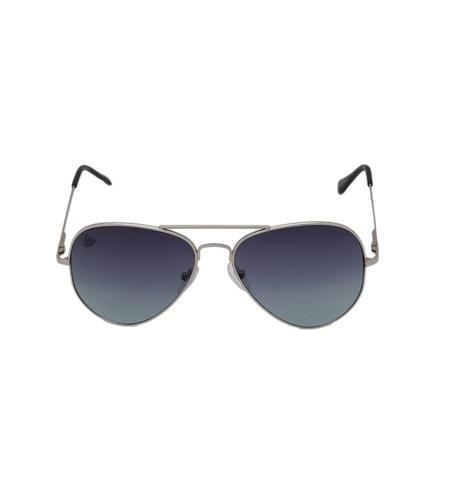 Mens silver & grey avaitor sunglasses
