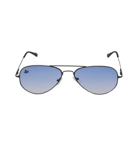 mens silver & skyblue avaitor sunglasses