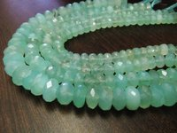 Natural Aqua Blue Chalcedony Far Size Beads,