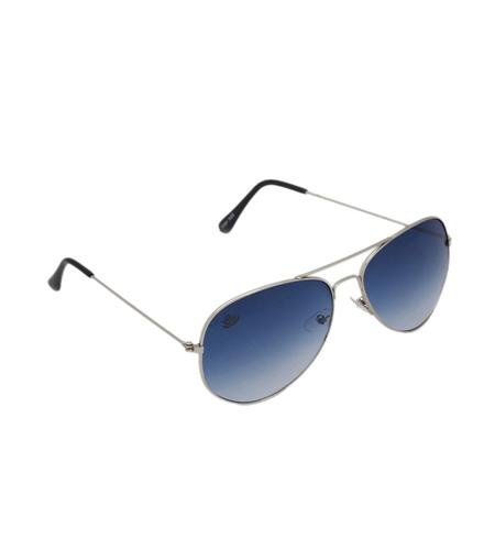 mens silver & skyblue avaitor sunglasses