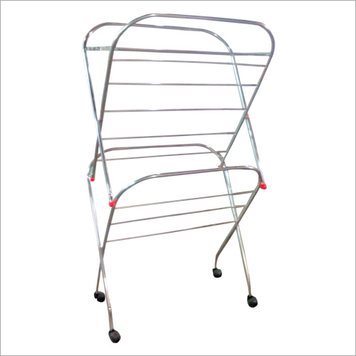 Folding Cloth Drying Stand With Wheel