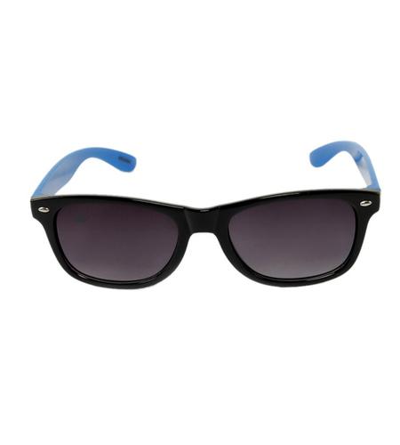 mens black & blue avaitor sunglasses