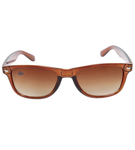 Mens brown rectangular sunglass