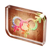 Sublimation Crystal Photo Frame - Square