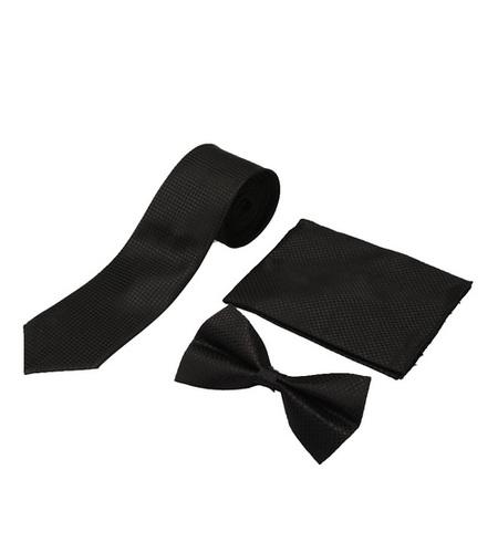 Mens formal black Tie & bow