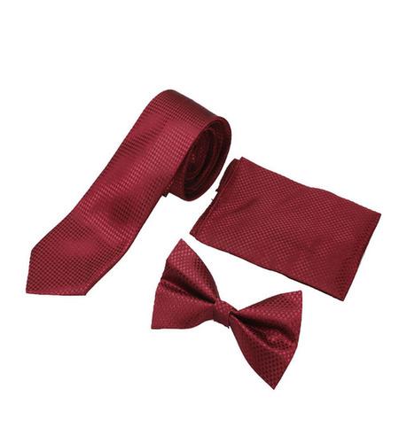 Mens casual maroom Tie & bow