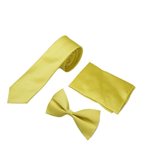 Mens formal yellow Tie & bow