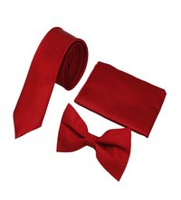Mens Formal Red Tie & bow