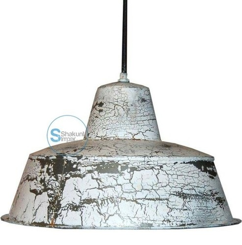 White & Black Industrial hanging Lamp