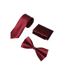 Mens Maroom formal tie & bow