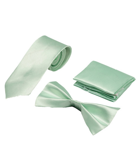 Mens light green Formal Tie & bow
