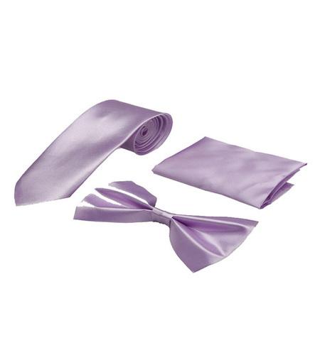 Mens Purple formal tie & bow
