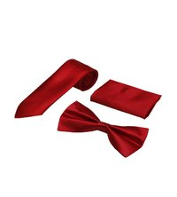 Mens Dark Red Casual Tie & bow