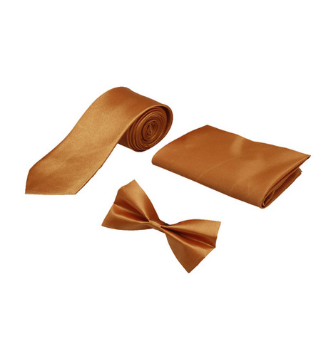 Mens brown casual Tie & bow