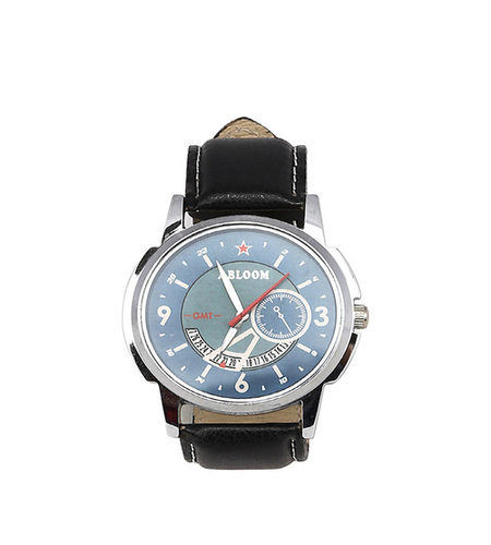 Mens black & blue casual watch