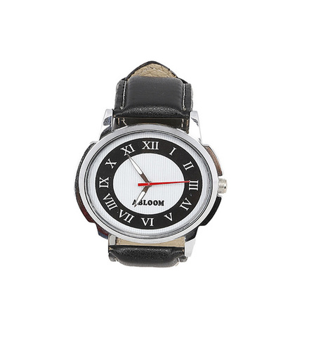 Mens black & white wrist watch
