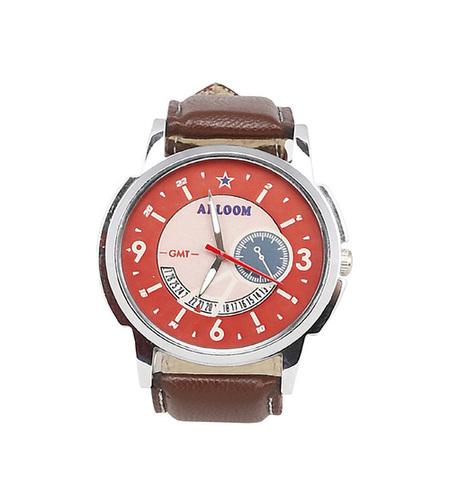Mens black & white wrist watch