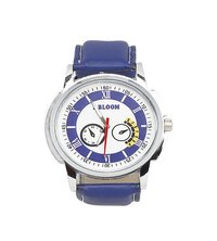 Mens blue & white analog watch
