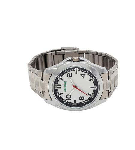 Mens white & silver Chain watch