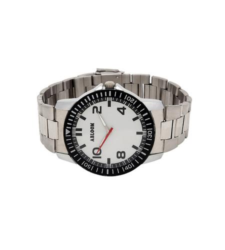 Mens black & silver wrist watch