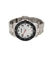 Mens black & silver wrist watch