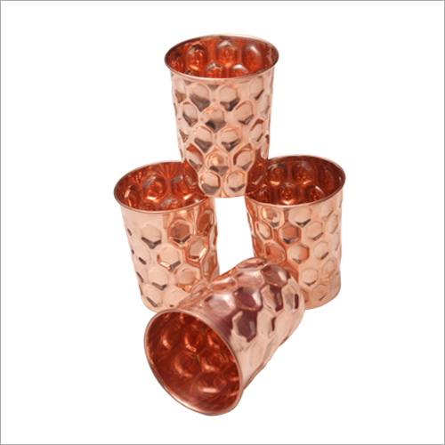 Copper Hammered Glass