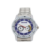 Mens blue & silver Wrist chain watch