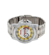 Mens yellow & silver wrist watch