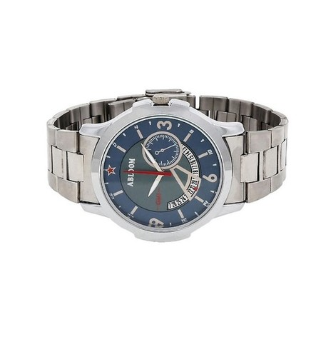 Mens Nevy & Silver wrist watch