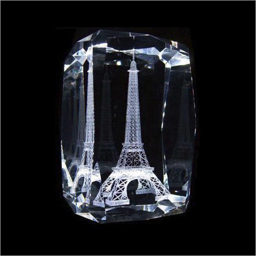 3D Eiffel Tower Crystal Monuments