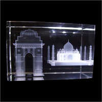 3D Engraved Crystal Monuments