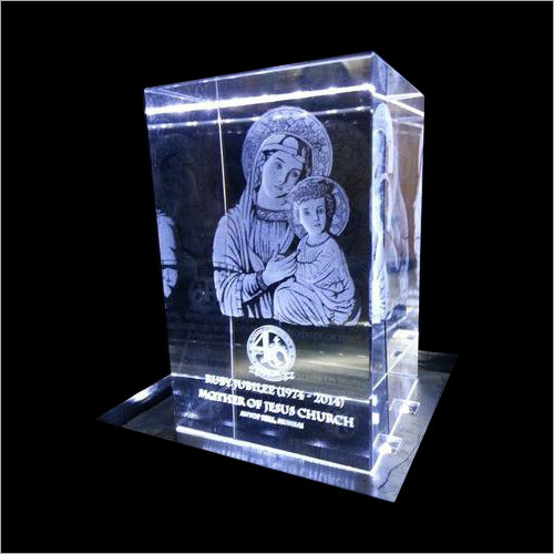 3D Crystal Laser Engraved Mother Marry