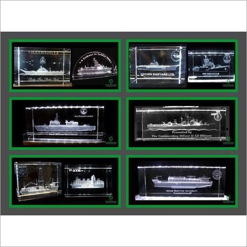 3D Crystal Ships Mementoes
