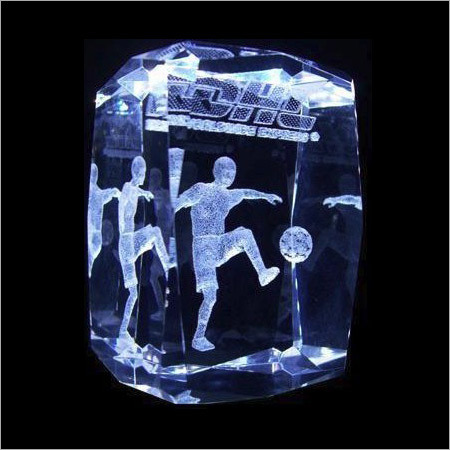 3D Crystal Football Sports