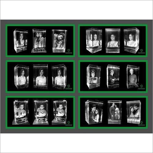 3D Photo Paperweight Crystal Cube