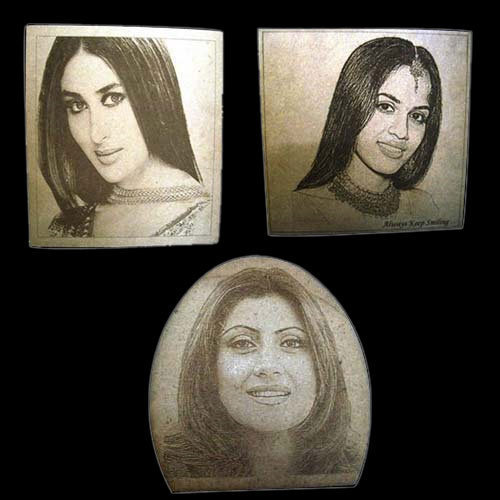 Wooden Photo Laser Engraving Service