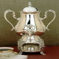 Burgundy Silver Coffee Urn
